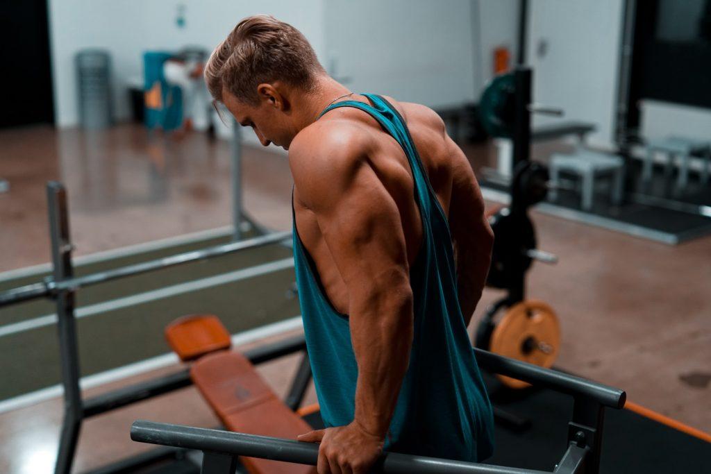 triceps en barras paralelas