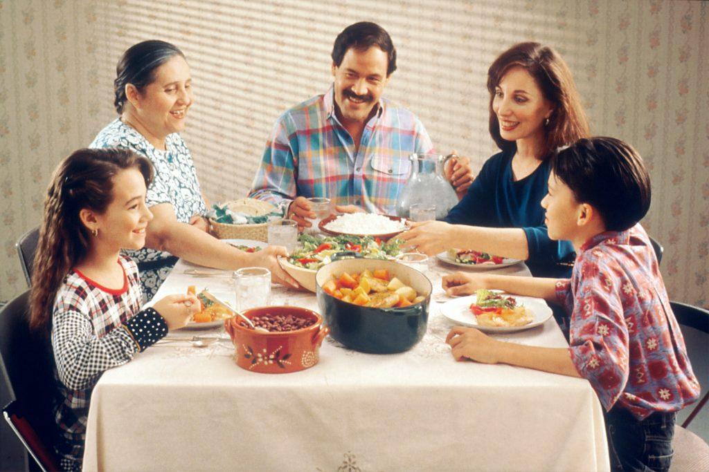 alimentación de familia